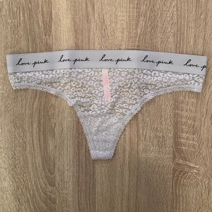 NWT Victoria Secret PINK Leopard Lace Thong